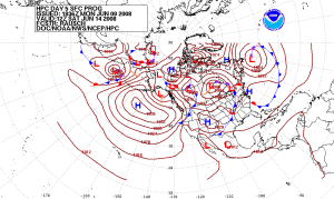 5 Day Pressure Forecast, Public Domain www.wikipedia.org